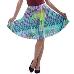 Drake 1 800 Hotline Bling A-line Skater Skirt