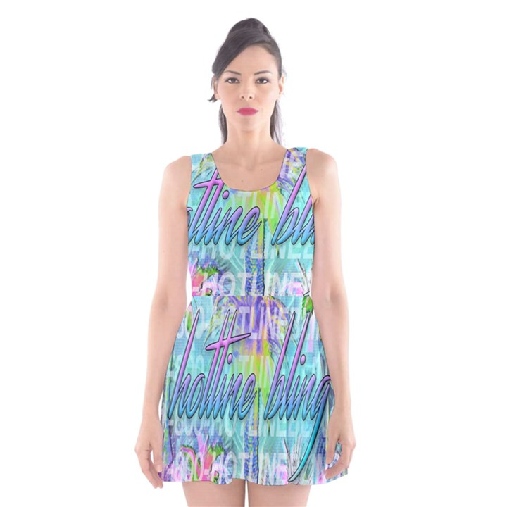 Drake 1 800 Hotline Bling Scoop Neck Skater Dress