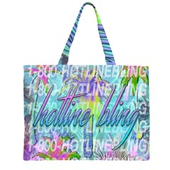 Drake 1 800 Hotline Bling Large Tote Bag