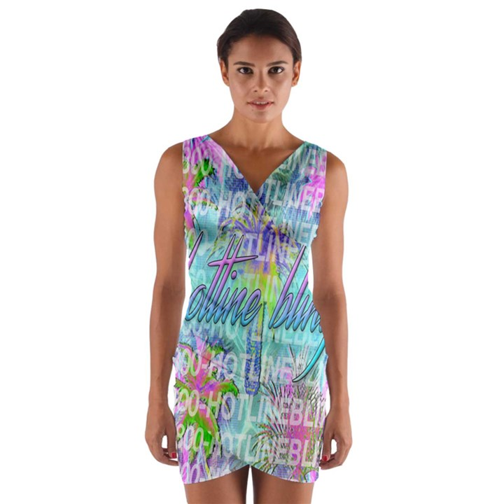 Drake 1 800 Hotline Bling Wrap Front Bodycon Dress
