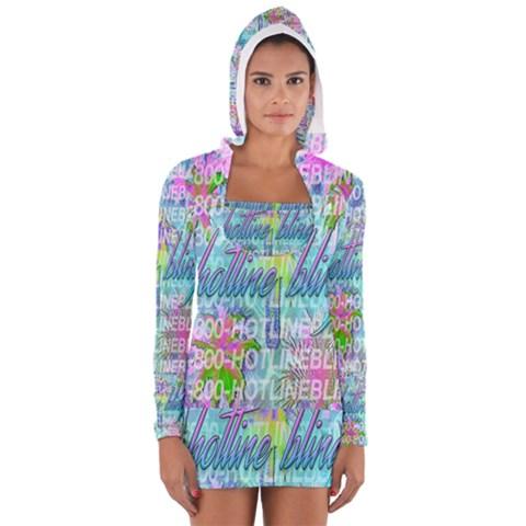 Drake 1 800 Hotline Bling Women s Long Sleeve Hooded T-shirt