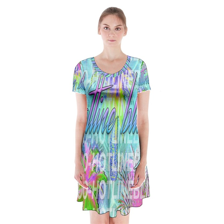 Drake 1 800 Hotline Bling Short Sleeve V-neck Flare Dress