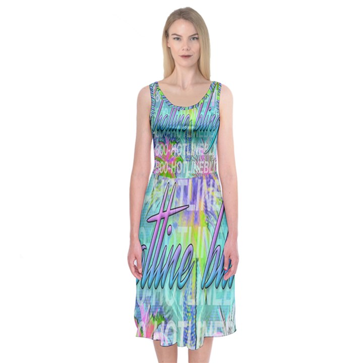 Drake 1 800 Hotline Bling Midi Sleeveless Dress