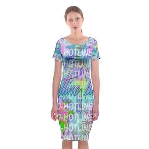 Drake 1 800 Hotline Bling Classic Short Sleeve Midi Dress