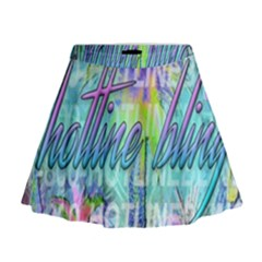 Drake 1 800 Hotline Bling Mini Flare Skirt