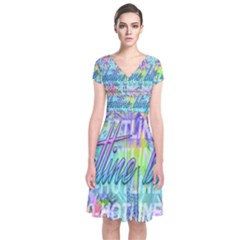Drake 1 800 Hotline Bling Short Sleeve Front Wrap Dress