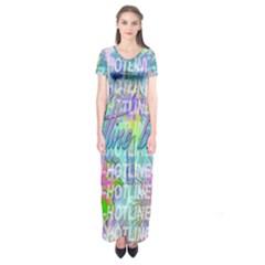 Drake 1 800 Hotline Bling Short Sleeve Maxi Dress