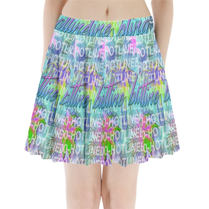Drake 1 800 Hotline Bling Pleated Mini Skirt