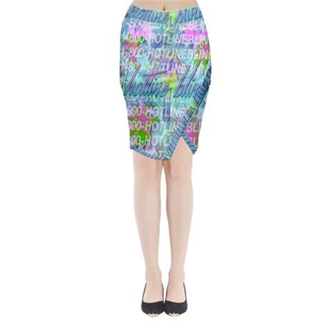 Drake 1 800 Hotline Bling Midi Wrap Pencil Skirt