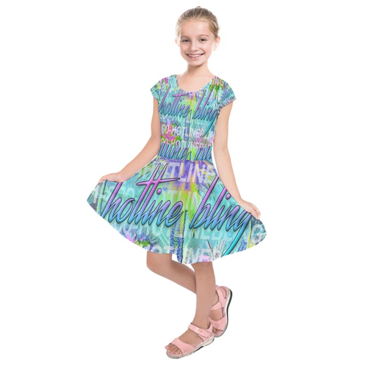 Drake 1 800 Hotline Bling Kids  Short Sleeve Dress