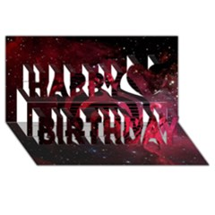 Bassnectar Galaxy Nebula Happy Birthday 3D Greeting Card (8x4)