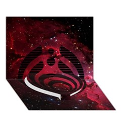 Bassnectar Galaxy Nebula Heart Bottom 3D Greeting Card (7x5)