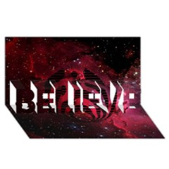 Bassnectar Galaxy Nebula BELIEVE 3D Greeting Card (8x4)