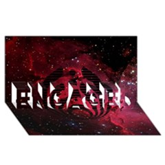 Bassnectar Galaxy Nebula ENGAGED 3D Greeting Card (8x4)