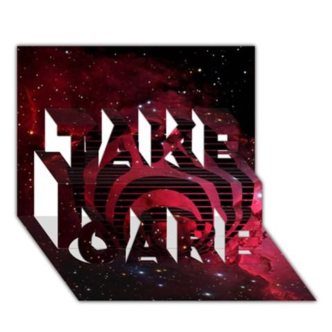 Bassnectar Galaxy Nebula TAKE CARE 3D Greeting Card (7x5)