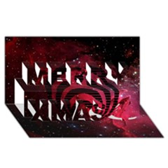 Bassnectar Galaxy Nebula Merry Xmas 3D Greeting Card (8x4)