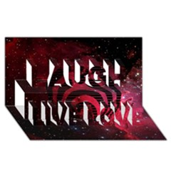 Bassnectar Galaxy Nebula Laugh Live Love 3D Greeting Card (8x4)