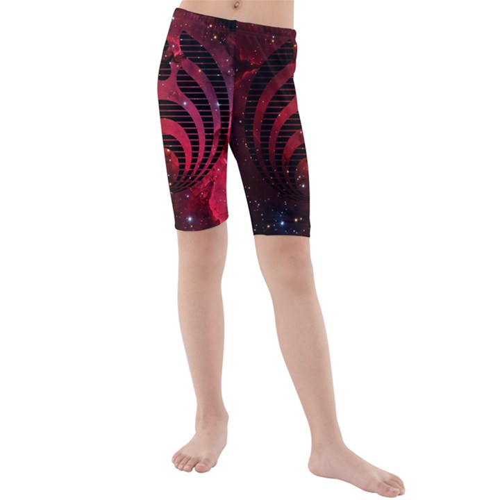 Bassnectar Galaxy Nebula Kids  Mid Length Swim Shorts