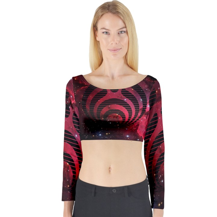 Bassnectar Galaxy Nebula Long Sleeve Crop Top