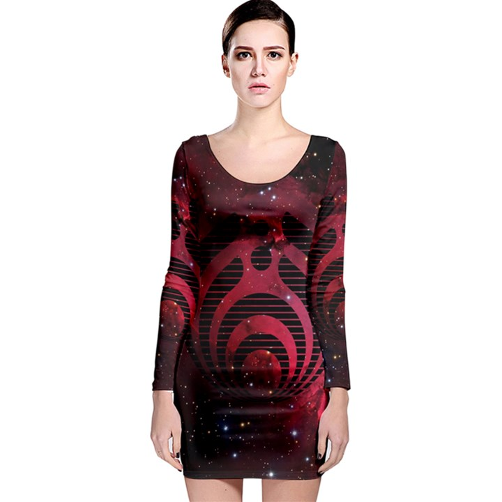 Bassnectar Galaxy Nebula Long Sleeve Bodycon Dress
