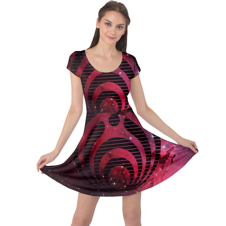 Bassnectar Galaxy Nebula Cap Sleeve Dresses