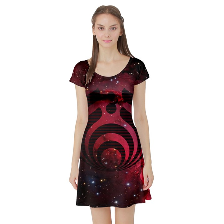 Bassnectar Galaxy Nebula Short Sleeve Skater Dress