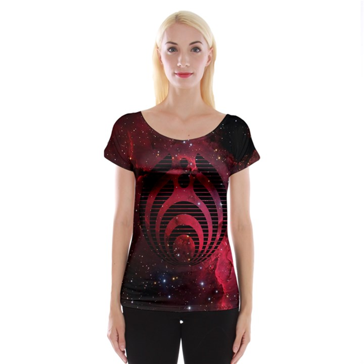 Bassnectar Galaxy Nebula Women s Cap Sleeve Top