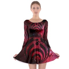 Bassnectar Galaxy Nebula Long Sleeve Skater Dress