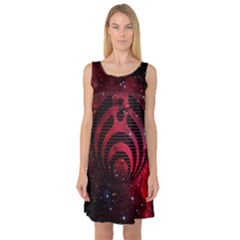 Bassnectar Galaxy Nebula Sleeveless Satin Nightdress