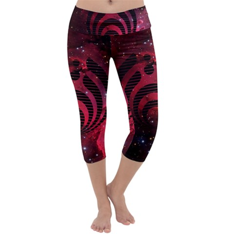 Bassnectar Galaxy Nebula Capri Yoga Leggings