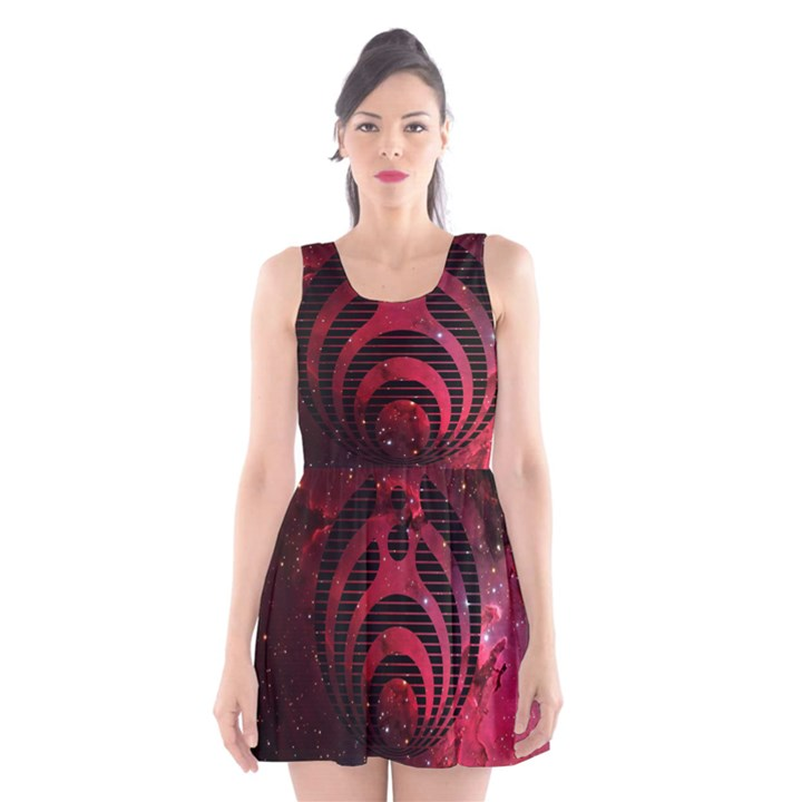 Bassnectar Galaxy Nebula Scoop Neck Skater Dress
