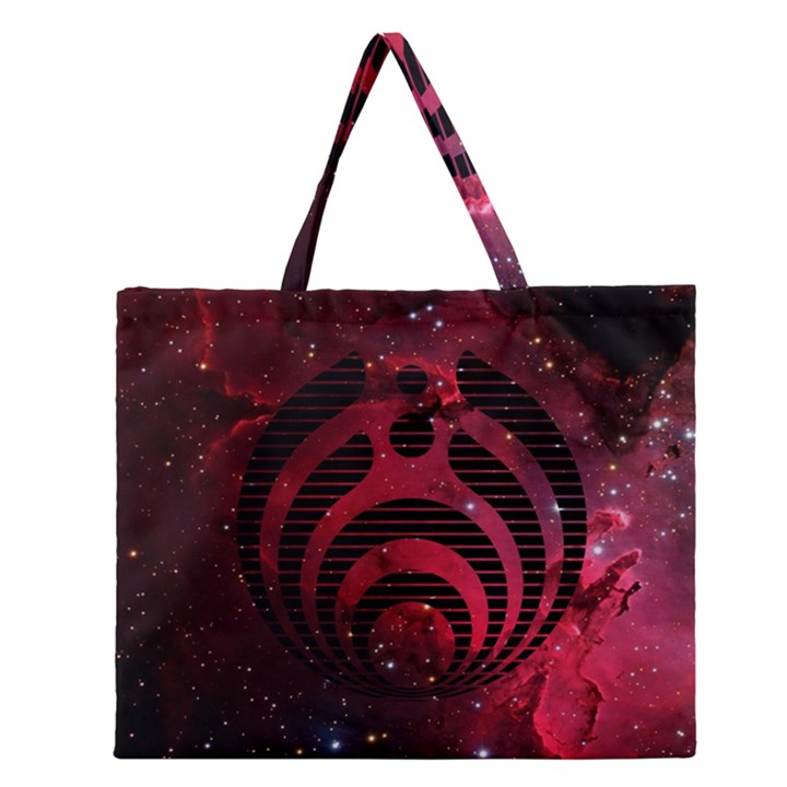 Bassnectar Galaxy Nebula Zipper Large Tote Bag