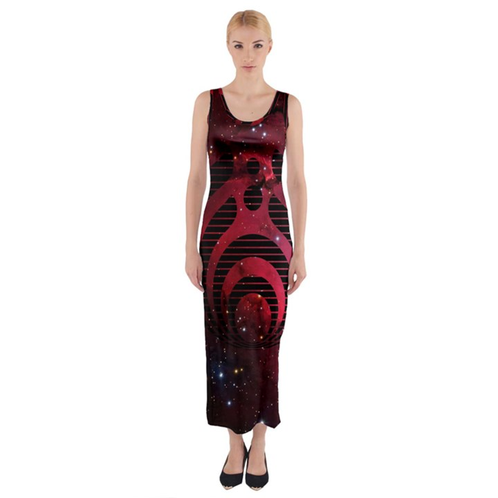 Bassnectar Galaxy Nebula Fitted Maxi Dress