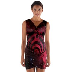 Bassnectar Galaxy Nebula Wrap Front Bodycon Dress