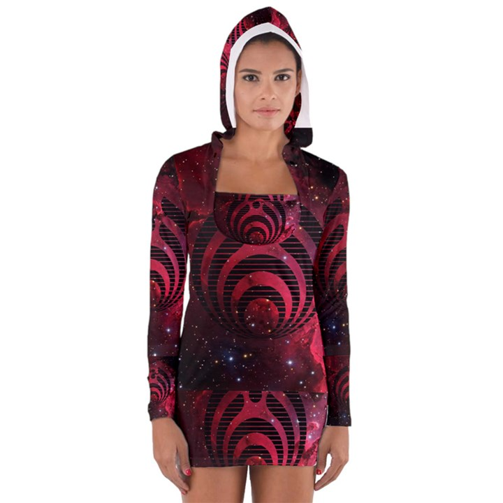 Bassnectar Galaxy Nebula Women s Long Sleeve Hooded T-shirt