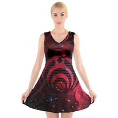 Bassnectar Galaxy Nebula V Neck Sleeveless Skater Dress