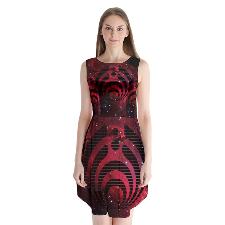 Bassnectar Galaxy Nebula Sleeveless Chiffon Dress