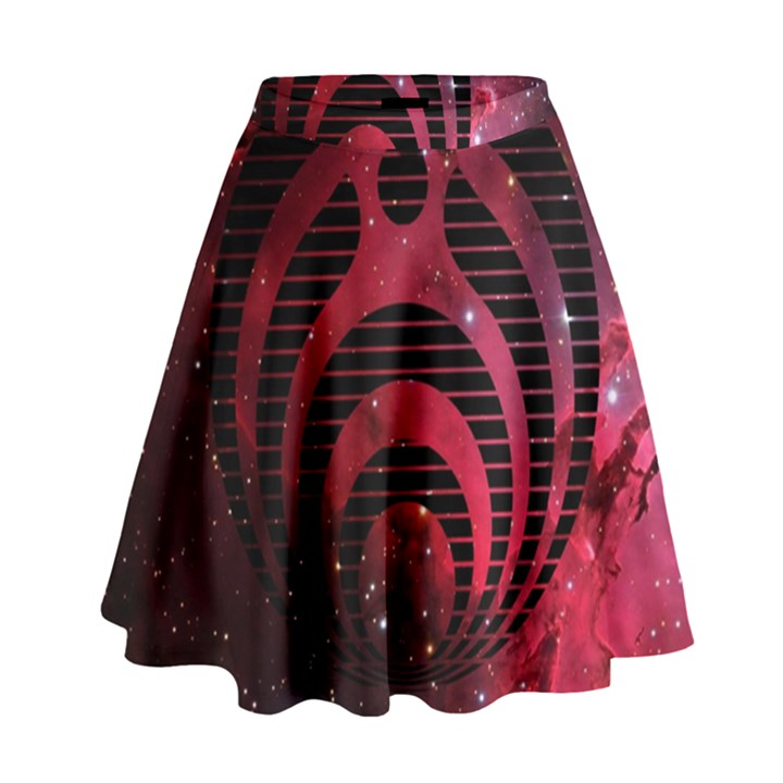 Bassnectar Galaxy Nebula High Waist Skirt