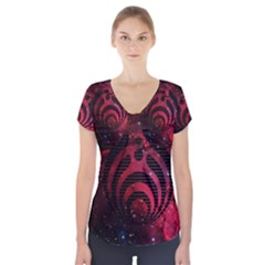 Bassnectar Galaxy Nebula Short Sleeve Front Detail Top