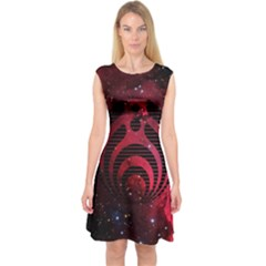Bassnectar Galaxy Nebula Capsleeve Midi Dress