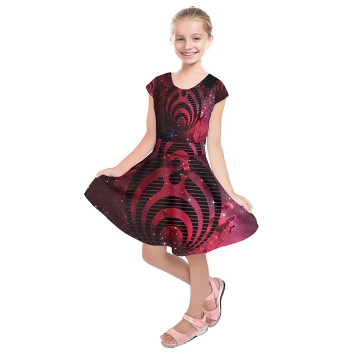 Bassnectar Galaxy Nebula Kids  Short Sleeve Dress