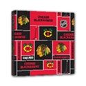 Chicago Blackhawks Nhl Block Fleece Fabric Mini Canvas 6  x 6  View1