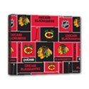Chicago Blackhawks Nhl Block Fleece Fabric Canvas 10  x 8  View1