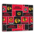 Chicago Blackhawks Nhl Block Fleece Fabric Canvas 24  x 20  View1