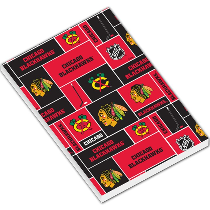 Chicago Blackhawks Nhl Block Fleece Fabric Large Memo Pads