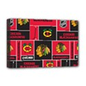 Chicago Blackhawks Nhl Block Fleece Fabric Deluxe Canvas 18  x 12   View1