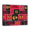 Chicago Blackhawks Nhl Block Fleece Fabric Deluxe Canvas 20  x 16   View1