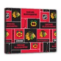 Chicago Blackhawks Nhl Block Fleece Fabric Deluxe Canvas 24  x 20   View1