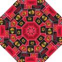 Chicago Blackhawks Nhl Block Fleece Fabric Golf Umbrellas View1