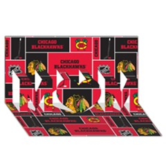 Chicago Blackhawks Nhl Block Fleece Fabric MOM 3D Greeting Card (8x4)